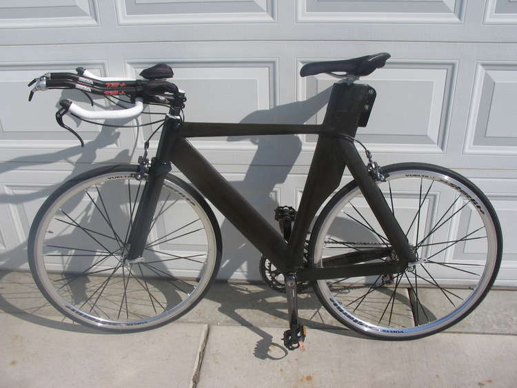 1 Homemade carbon fiber bike left side