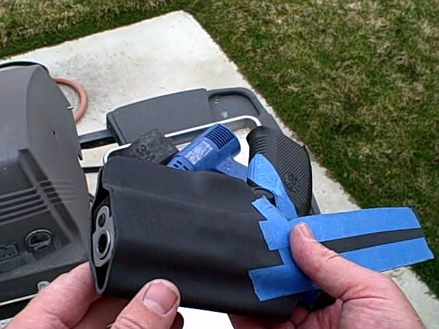custome kydex holster final stage of holster cleanup 2