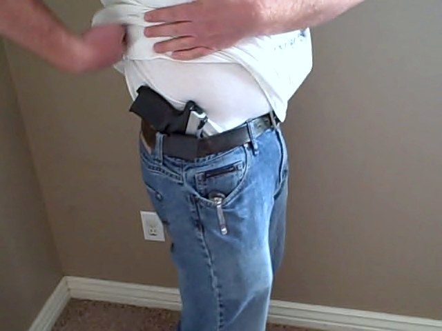custome kydex holster in waistband and testing