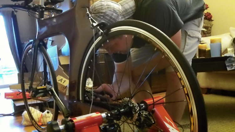 Z Frame Bike putting everything together